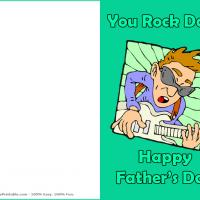 Printable You Rock Dad - Printable Fathers Day Cards - Free Printable Cards