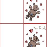 Printable Your Teddy Card - Printable Valentines - Free Printable Cards
