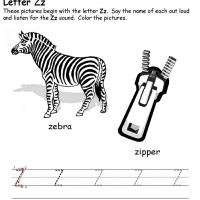 Printable Z Beginning Consonant - Printable Preschool Worksheets - Free Printable Worksheets