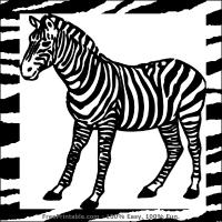 Zebra Flash Card
