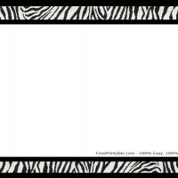 Printable Zebra Print Scrapbook Border - Printable Scrapbook - Free Printable Crafts