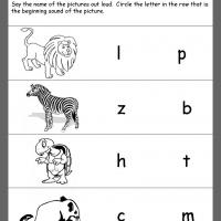 Printable Zoo Animals Beginning Consonants Review - Printable Kindergarten Worksheets and Lessons - Free Printable Worksheets