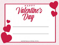 Striped Valentine Certificate