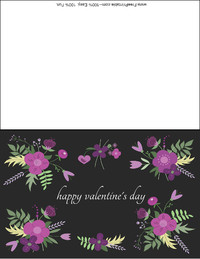 Purple Flowers Valentine Card