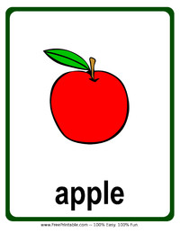 Apple Flash Card