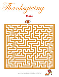 Thanksgiving Maze Medium