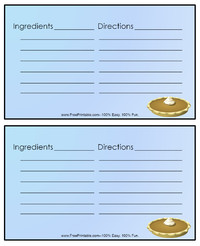 Thanksgiving Pie Recipe Card