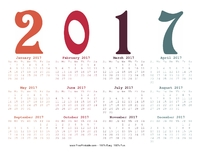 2017 Year-in-One Calendar