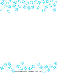 Simple Snowflake Stationery