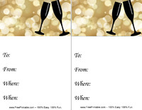 New Year Champagne Invitation