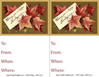 Thanksgiving Leaves Invitation