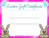 Easter Gift Certificate