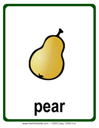 Pear Flash Card