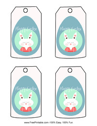 Pastel Easter Gift Tag