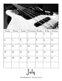 July 2021 Picture Calendar