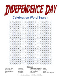 Independence Day Celebration Word Search