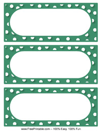 Polka Dot Labels Green