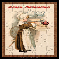 Vintage Child Thanksgiving Puzzle