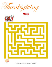Thanksgiving Maze Beginner