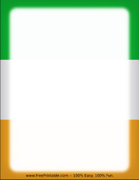 Irish Flag Letterhead