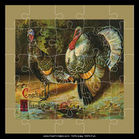 Vintage Turkeys Puzzle