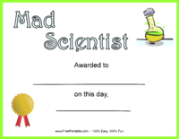 Mad Scientist Award