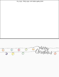 Decorations Christmas Card