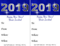 New Year 2019 Invitation