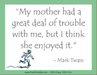 Twain Mothers Quotation