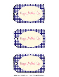 Mother's Day Purple Gift Tag