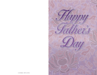 Purple Father's Day Card