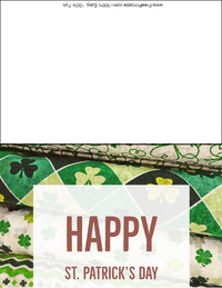 Clover Cloth Greeting Card