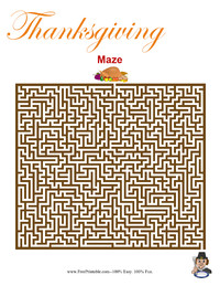 Thanksgiving Maze Hard