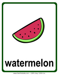 Watermelon Flash Card