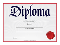 Diploma with Red Seal