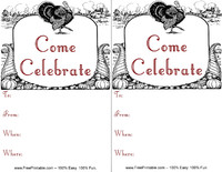 Come Celebrate Invitation