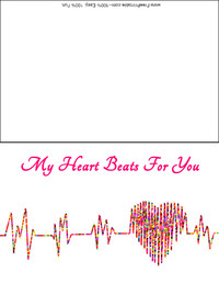 Heartbeat Valentine Card
