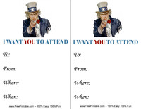 Uncle Sam Invitation