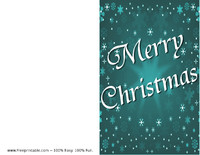 Blue Snow Christmas Card