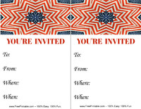 Flag Kaleidoscope Invitation