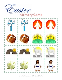 Easter Religious Memory Game