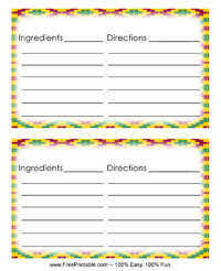 Kente Recipe Card