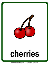 Cherries Flash Card