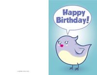 Cute Bird Birthday Card