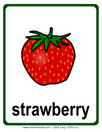Strawberry Flash Card