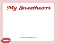 My Sweetheart Valentine Certificate