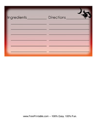 Halloween Witch Recipe Card