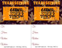 Grateful Thanksgiving Invitation