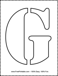 photograph relating to Printable Letter G called Letter G Stencil