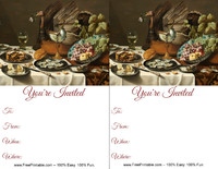 Thanksgiving Painting Invitation